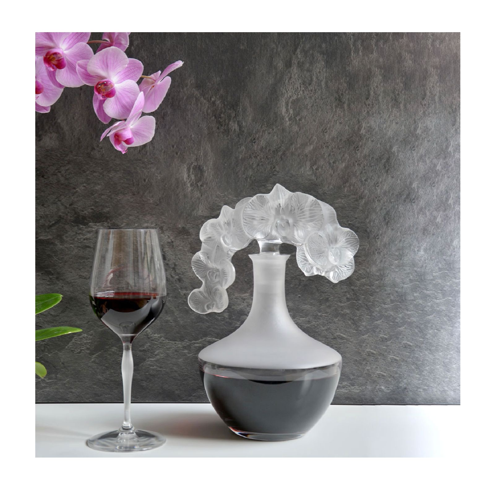 Lalique Orchidée Decanter