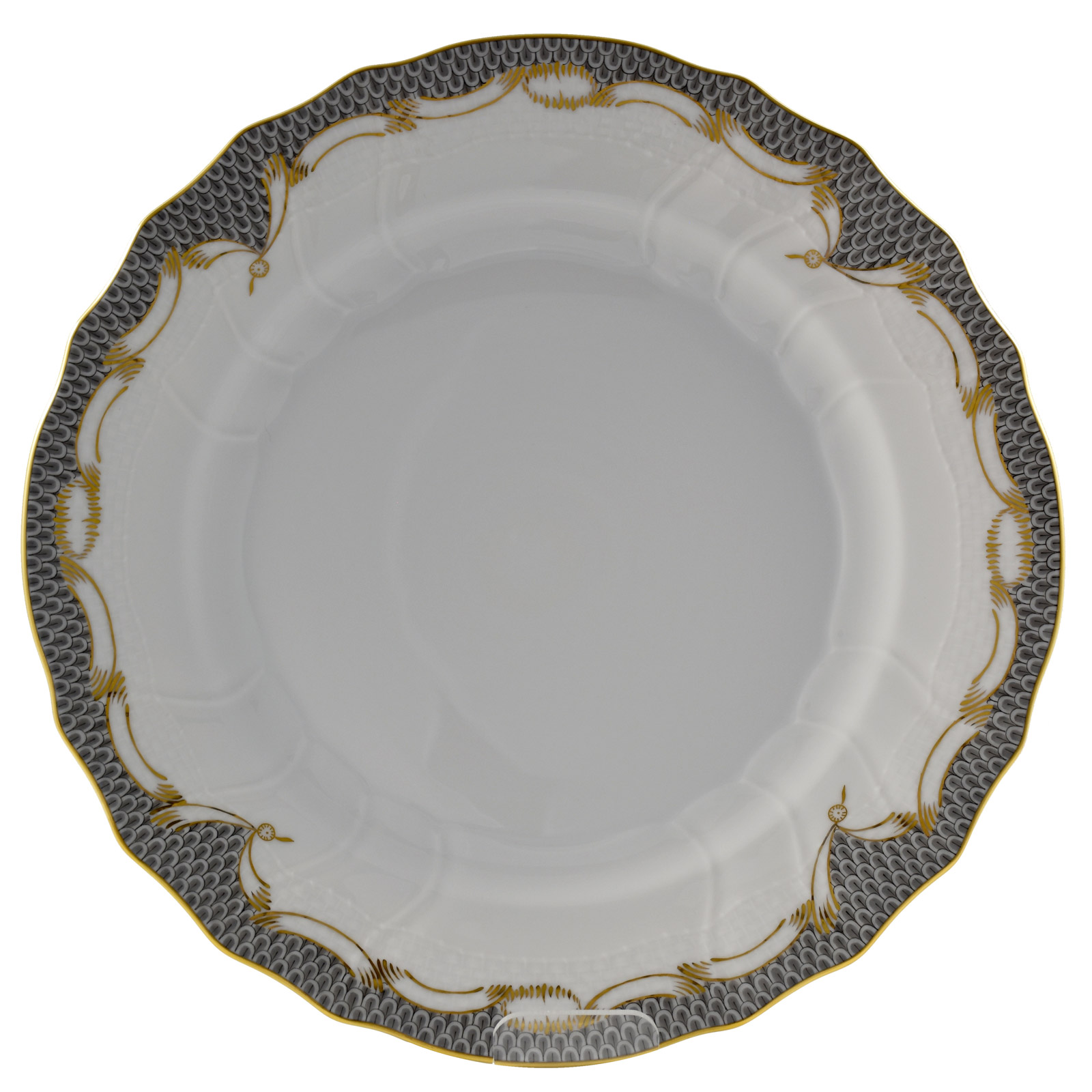sc 1 st  House of Art & Herend Grey and Golden Scales Dinner Plate - ART OF TABLE - House of Art