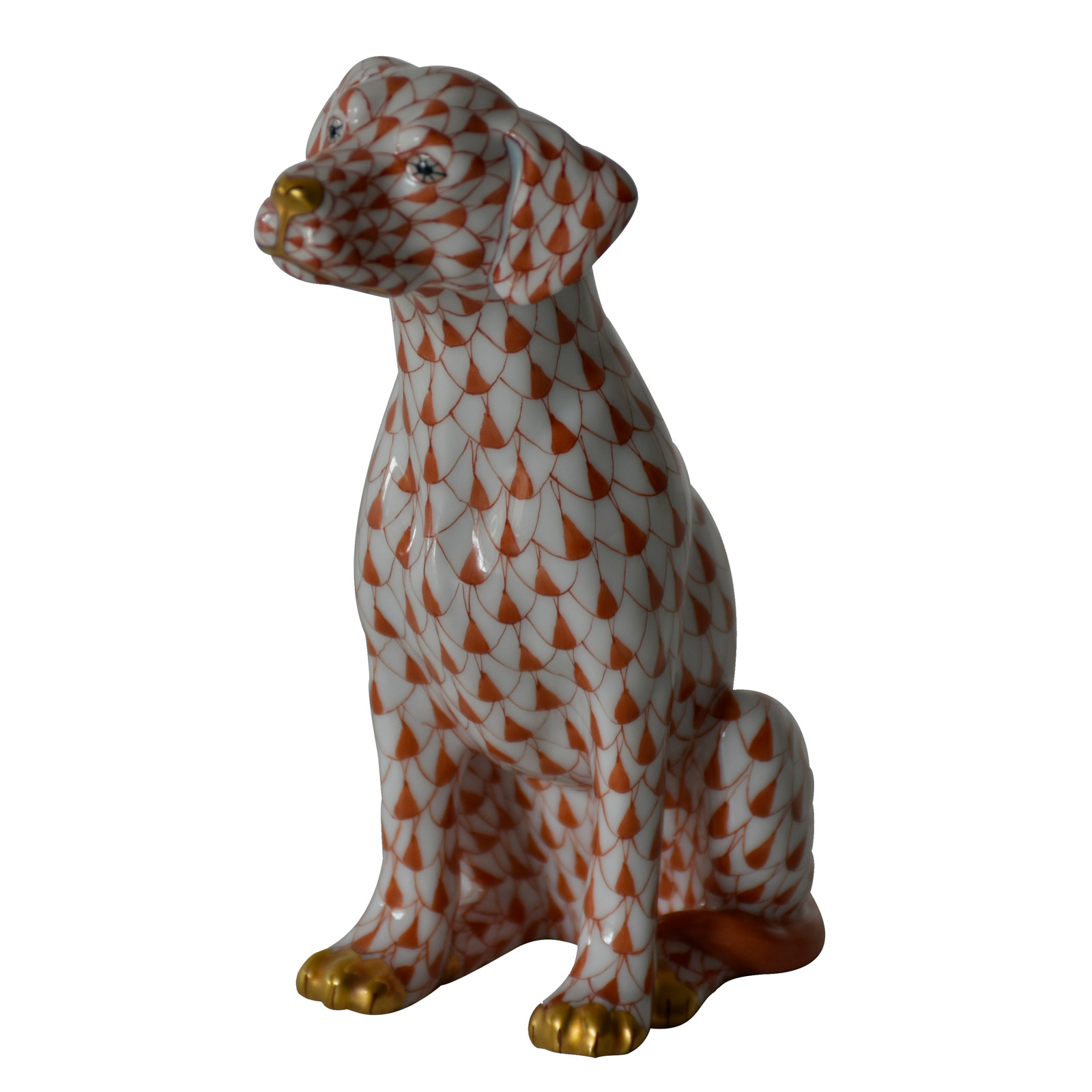Herend Scales red Sitting Dog - Herend - House of Art